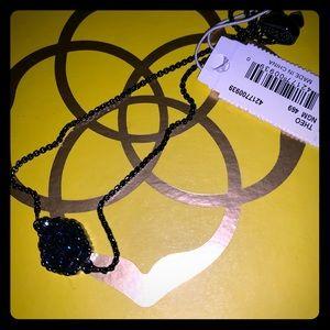 NWT Navy gunmetal blue drusy Theo bracelet